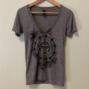 OBEY V-Neck Shirt | Size XS